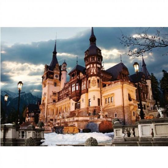 Puzzle 1000 pièces - Roumanie : Château de Peles de nuit - Dtoys-63038MN07