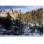 Puzzle 500 pièces - Roumanie : Château de Bran sous la neige.