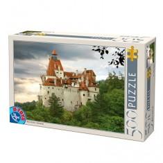 Puzzle 500 pièces - Roumanie : Château de Bran.