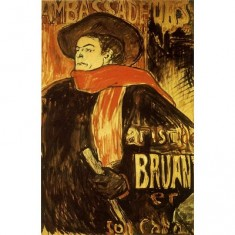 Puzzle 515 pièces - Henri de Toulouse-Lautrec : Aristide Bruant