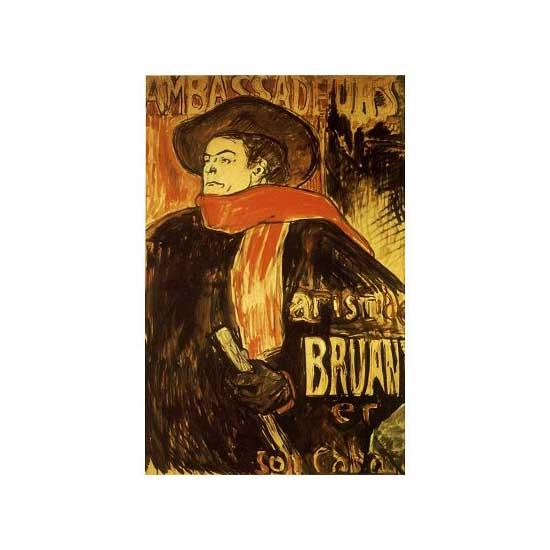 Puzzle 515 pièces - Henri de Toulouse-Lautrec : Aristide Bruant - Dtoys-66978TL08