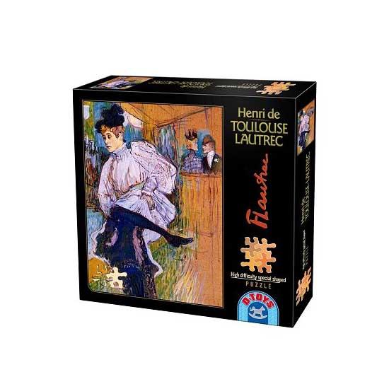 Puzzle 515 pièces - Henri de Toulouse-Lautrec : Jane Avril dansant - Dtoys-66978TL04