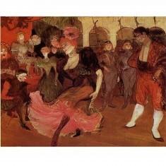 Puzzle 515 pièces - Henri de Toulouse-Lautrec : Marcelle Lender dansant le boléro dans Chilperic