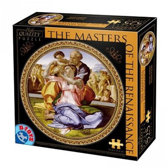 Puzzle 525 pièces rond - Les maîtres de la Renaissance - Michel Ange : Doni Tondo - Dtoys-66985TM04