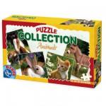 Puzzles de 24 à 60 pièces : 4 puzzles : Lapin, ânon, chaton et cheval