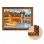 Toile avec cadre Art Print in Frame : Claude Monet, Le pont d'Argenteuil