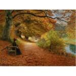 Puzzle 1000 pièces : Hans Anderson Brendekilde : Chemin boisé d'automne