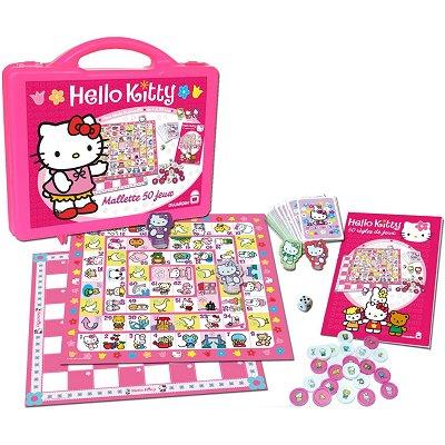 Hello kitty mallette 50 jeux dujardin 00411 for Charlotte dujardin 50 50