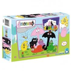Puzzle 2 x 30 pièces - Barbapapa : Jour de pluie