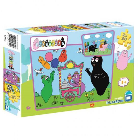 Puzzle 2 x 30 pièces - Barbapapa : Marchand de glaces - Dujardin-62302-5