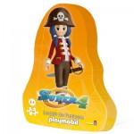 Puzzle 48 pièces : Super 4 , inspiré de l'univers Playmobil : Ruby la Pirate