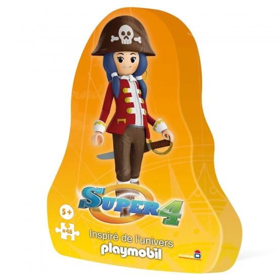 Puzzle 48 pièces : Super 4 , inspiré de l'univers Playmobil : Ruby la Pirate - Dujardin-62103