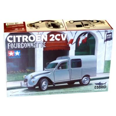maquette voiture citro n 2cv fourgonnette ebbro. Black Bedroom Furniture Sets. Home Design Ideas