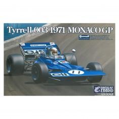 Maquette voiture : Tyrrell 003 1970 GP Monaco