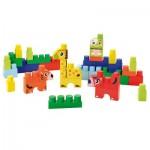 Briques de construction Abrick : Baril animaux : Bleu