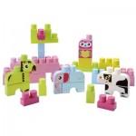 Briques de construction Abrick : Baril animaux : Rose