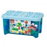 Briques de construction Abrick : Baril de 200 pièces bleues