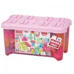 Briques de construction Abrick : Baril de 200 pièces roses