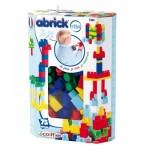 Briques de construction Abrick : Baril maxi 75 pièces bleues