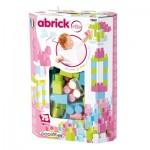 Briques de construction Abrick : Baril maxi 75 pièces roses
