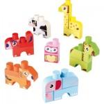 Briques de construction Abrick : Boîte de 7 animaux Maxi Abrick