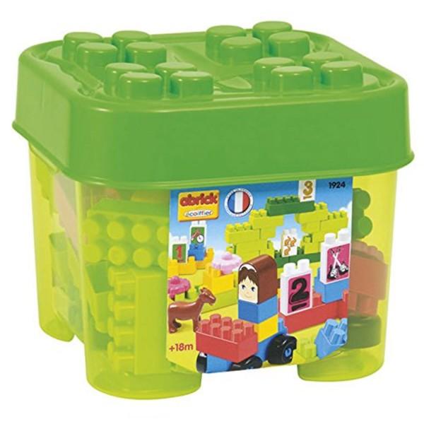 briques de construction abrick petit coffre jardin jeux et jouets ecoiffier avenue des jeux. Black Bedroom Furniture Sets. Home Design Ideas