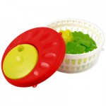 Cuisine : Essoreuse à salade rouge