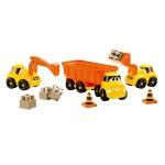 Ensemble de 3 véhicules de chantier Fast truck Abrick