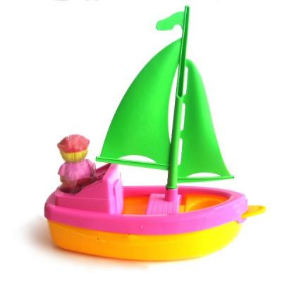 jouet de plage bateau plouf voile verte et coque jaune rose jeux et jouets ecoiffier. Black Bedroom Furniture Sets. Home Design Ideas
