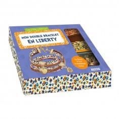 Coffret Les P'tites Créatrices : Mon double bracelet en Liberty