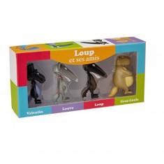 Figurines Loup et ses amis : Pack de 4 figurines