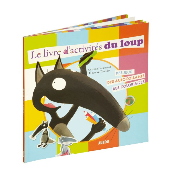 livre d 39 activit s du loup jeux et jouets editions auzou avenue des jeux. Black Bedroom Furniture Sets. Home Design Ideas