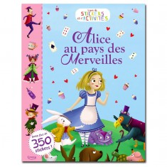 Livre de stickers et d'activités : Alice au pays des merveilles