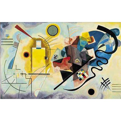 Puzzle 1000 pièces - Art - Kandinsky : Jaune, Rouge, Bleu - Ricordi-14450