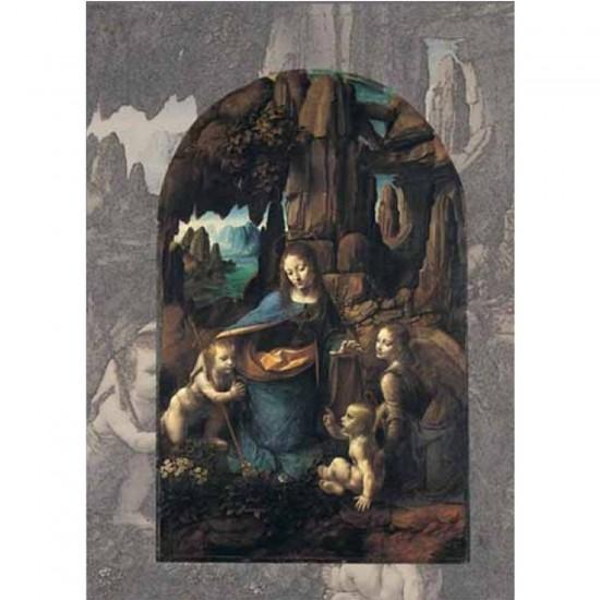 Puzzle 1000 pièces - Art - Léonard de Vinci : La vierge au rocher - Ricordi-15866