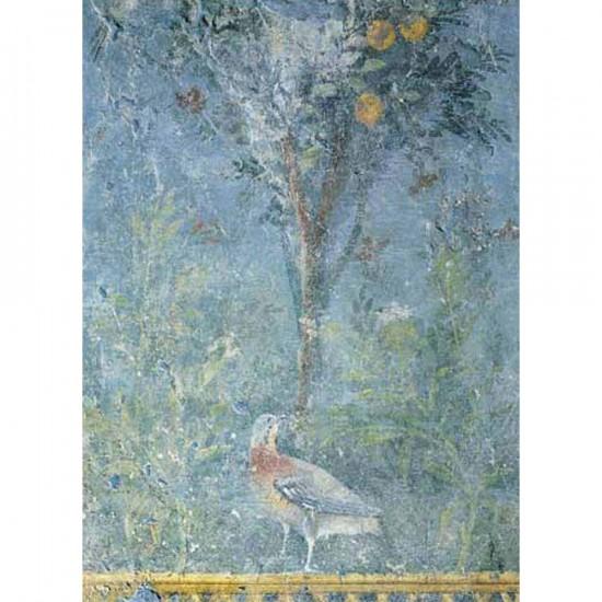 Puzzle 1000 pièces - Art - Roman Fresco : L'oiseau dans le jardin - Ricordi-14760