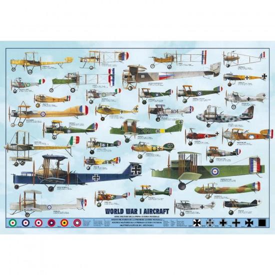 Puzzle 1000 pièces - Avions de la première guerre mondiale - Ricordi-58032