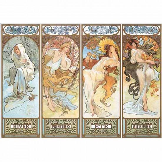 Puzzle 1000 pièces - Mucha : 4 saisons - Ricordi-16054