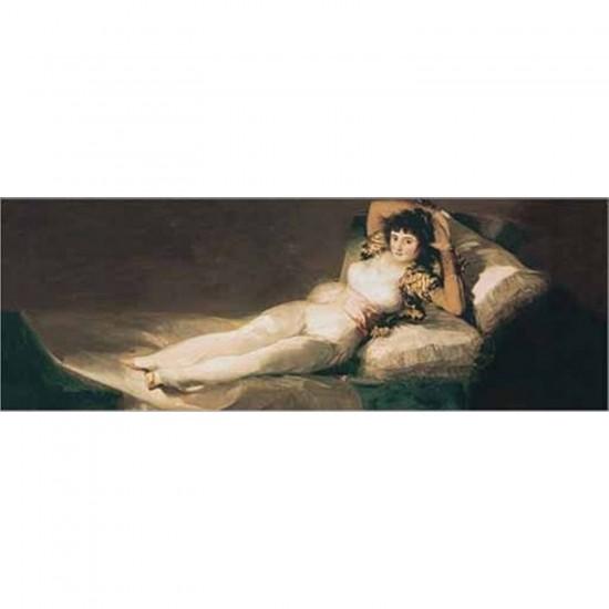 Puzzle 1000 pièces panoramique - Art - Goya : La Maja vêtue - Ricordi-16002