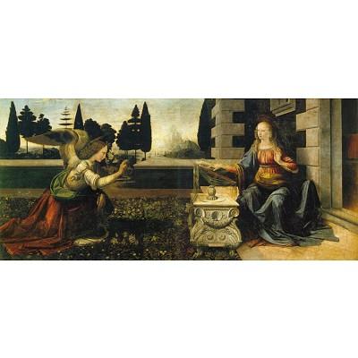 Puzzle 1000 pièces panoramique - Léonard de Vinci : L'Annonciation - Ricordi-15870