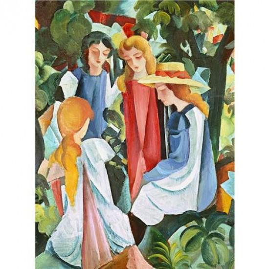 Puzzle 1500 pièces - Macke : Quatre filles - Ricordi-26095