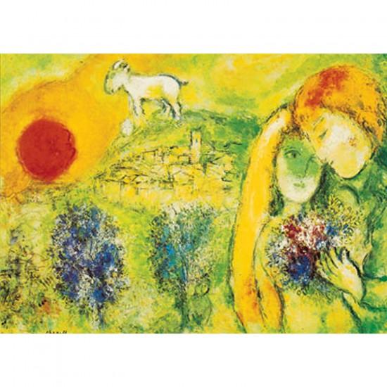 Puzzle 500 pièces - Art - Chagall : Les Amoureux de Vence - Ricordi-09473