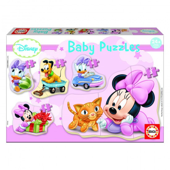 Baby puzzle : 5 puzzles : Disney : Minnie - Educa-15612