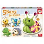 Baby puzzle : 5 puzzles : Les animaux de la forêt