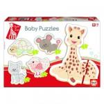 Baby puzzle : 5 puzzles : Sophie la girafe
