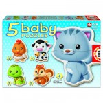 Baby puzzle - 5 puzzles : Les animaux