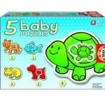 Baby puzzle - 5 puzzles - Les animaux de compagnie
