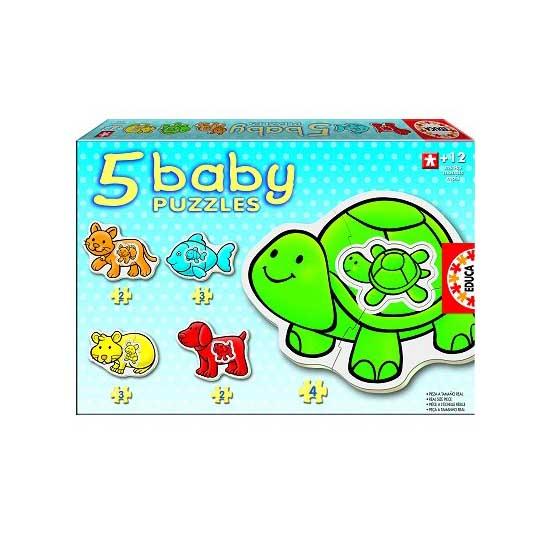 Baby puzzle - 5 puzzles - Les animaux de compagnie - Educa-14864