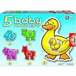 Baby puzzle - 5 puzzles - Les animaux de la ferme