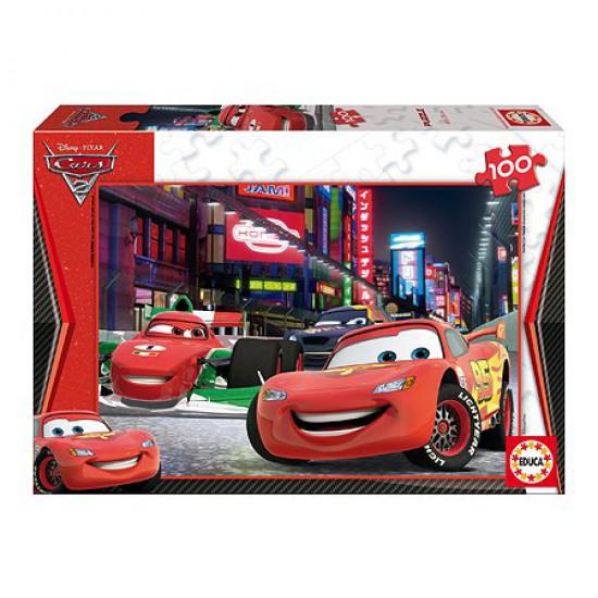 Puzzle 100 pièces - Cars 2 : Flash McQueen à Tokyo - Educa-14940
